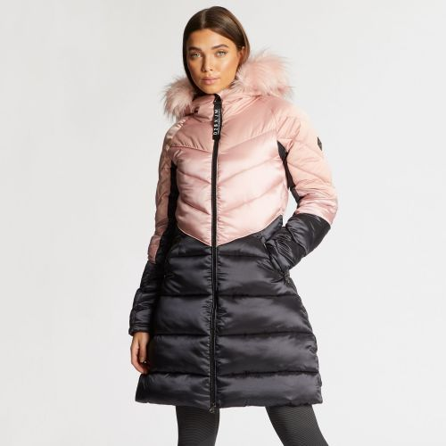 Dare 2B X Julien Macdonald - Women's Baroness Quilted Parka Jacket - Blush